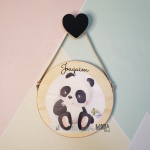 Placa decorativa Panda