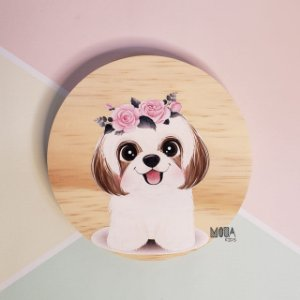 Placa decorativa Shih-tzu