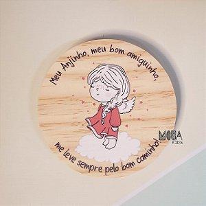 Placa decorativa Oração Anjinha