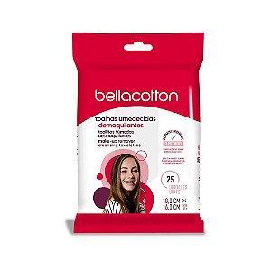 Lenço Umedecido Demaquilante Bellacotton 25un