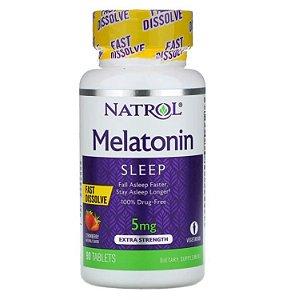 Melatonina Natrol Dissolução Rápida Morango 5mg 90 Tablets