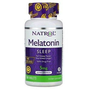 Melatonina Natrol Liberação Prolongada 5mg 100 Tablets