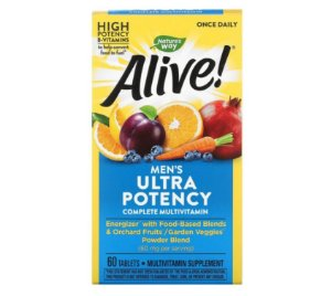 Multivitamínico Nature's Way Alive Once Daily Masculino 60 Tabletes