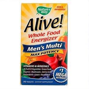 Multivitamínico Nature's Way Alive Men's Multi Masculino 90 Tabletes