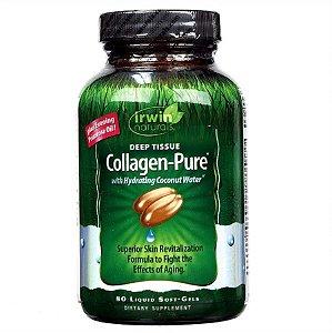 Colágeno Irwin Naturals + Água de Coco 80 Cápsulas