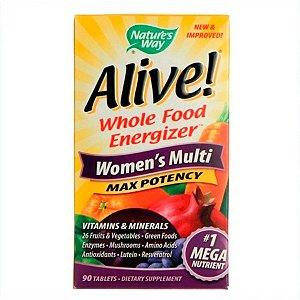 Multivitamínico Nature's Way Alive Women's Multi Feminino 90 Tabletes