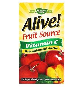 Vitamina C Natures Way Frutas 120 Cápsulas