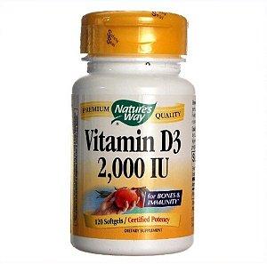 Vitamina D Natures Way 2000 IU 240 Gels