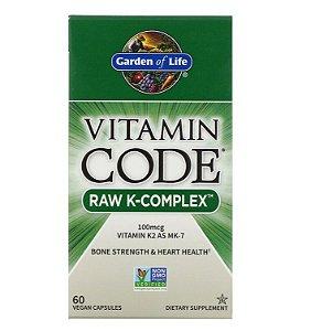 Vitamina K Garden of Life Code Complex 60 Cápsulas