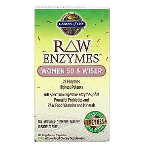 Enzimas Garden of Life RAW Enzymes Women 50 and Wiser 90 Caps