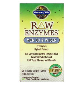 Enzimas Garden of Life RAW Enzymes Man 50 and Wiser 90 Caps