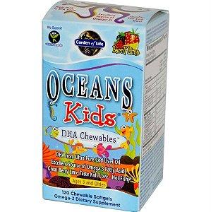 Óleo de Peixe Garden of Life DHA Oceans Kids Mastigáveis 120 caps