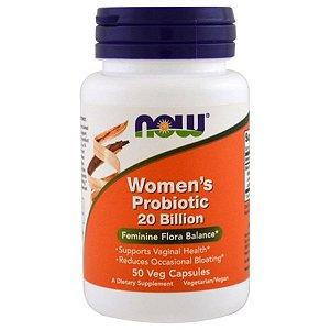 Probiótico Now Foods Women's 20 Bilhões 50 caps