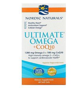 Óleo de Peixe Nordic Naturals Omega 3  Ultimate CoQ10 60 caps