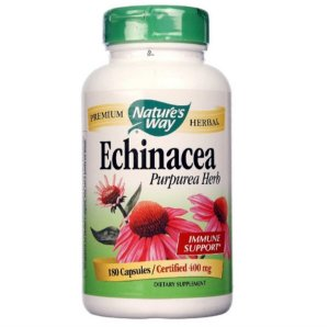 Echinacea Natures Way Orgânica 400 Mg 180 Caps