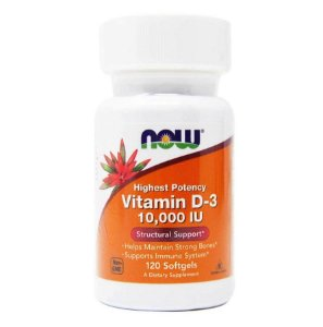 Vitamina D Now Foods 10000iU 120 caps
