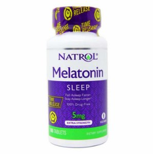 Melatonin Natrol Liberação Lenta 5mg 100 Tabletes