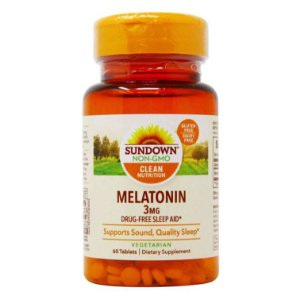 Melatonin Sundown Naturals 3mg 60 Tablets