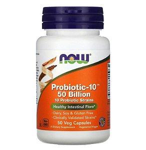 Probiótico Now Foods 10 Cepas 50 Bilhões 50 caps