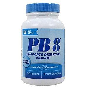 Probiótico Nutrition Now PB8 Fórmula Original 120 caps