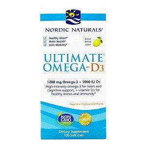Óleo de Peixe Nordic Naturals Omega 3 Ultimate Limão 120 caps