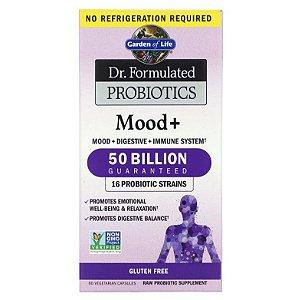Probiótico Garden of Life Dr. Formulated Mood + 50 Bilhões 60 caps