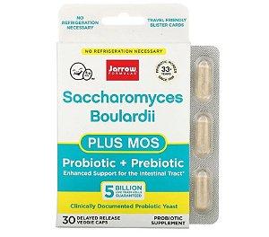 Probiótico Jarrow Saccharomyces Boulardii + MOS Pack 30 caps