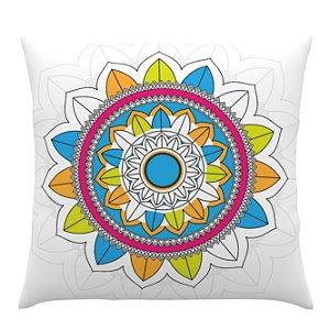 Almofada Colorida Desenho Mandala - Ultradigi