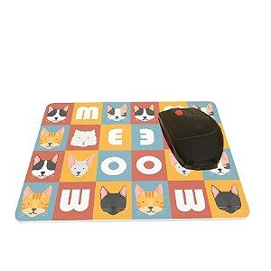 Mouse Pad Meow Meow Colorido