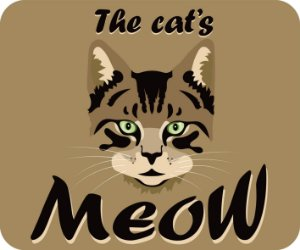 Mouse Pad The Cat's Meow