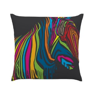 Almofada Colorida Zebra Ilustrada