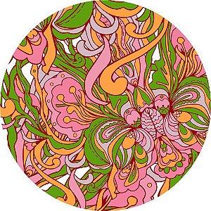 Mouse Pad Redondo Abstrato Colorido 2