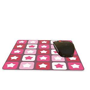 Mouse Pad Colorido Estrelinhas