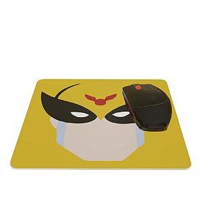 Mouse Pad Colorido Herói Amarelo