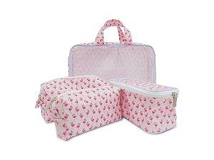 Kit Necessaire Flamingo com 3 peças
