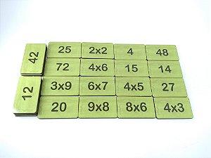 Jogo da memória - Multiplicação