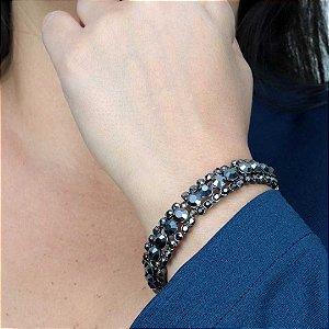 Maxi pulseira cravejada em cristais