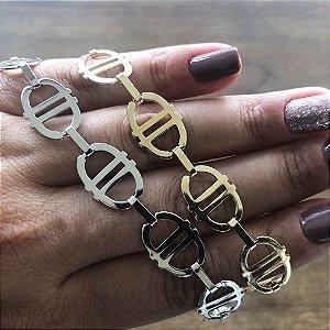 Pulseira das blogueiras semi joia da moda