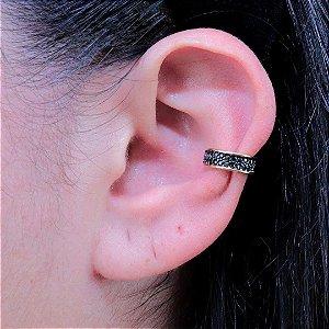 Piercing feminino de pressão para orelha zircônia ônix