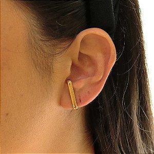Brinco Ear Hook banhado em ouro 18k
