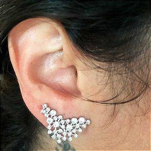 Ear cuff mapa semijoia