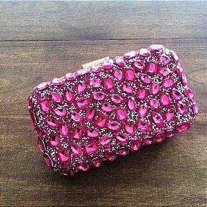 Clutch de luxo em cristais para festa