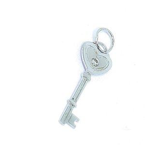 Pingente Key Heart