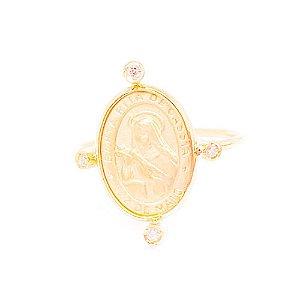 Anel Medalha Santa Rita de Cassia