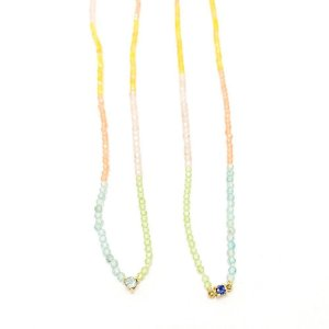 Choker Rainbow Mini Gemas