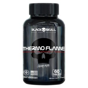 Termogênico Thermo Flame 60 tabletes - Caveira Preta