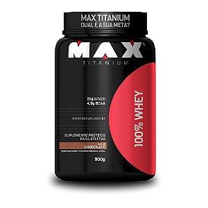 Whey 100% Max Titanium - Pote 900g (Sabor Chocolate)