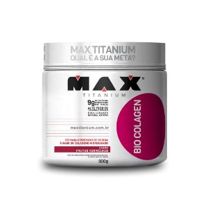 Bio Colágeno Hidrolisado Max Titanium - 300g (Sabor Frut. Vermelhas)