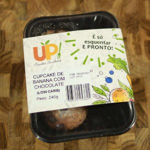 Comida Congelada Caseira - Cupcake de Banana com Chocolate 320g