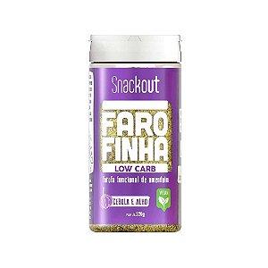 Farofa LowCarb Vegana sabor Cebola e Alho (220g) Snackout